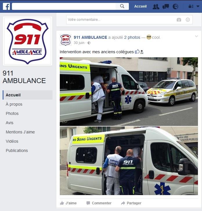 Facebook screenshot modifié 911